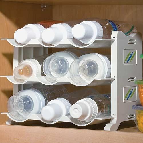 Baby bottle organizer image baby love pinterest for Pill bottle storage rack