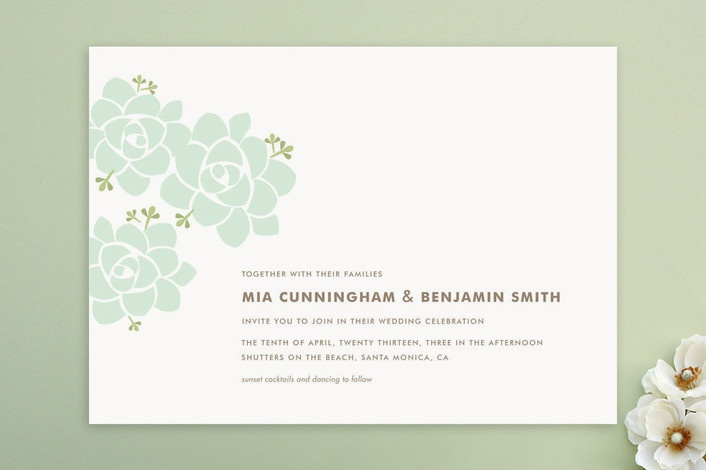 Sunday succulent wedding invitations by carolyn ma at minted com