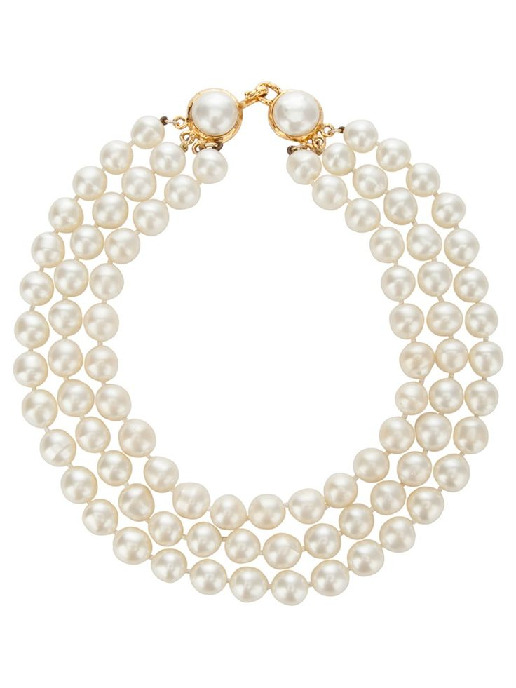 Vintage chanel pearls pearls pinterest - Vintage chanel ...