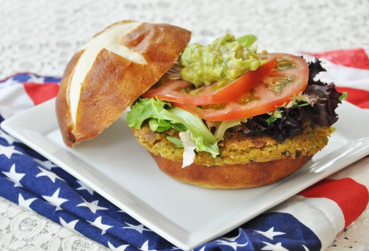 ... chickpea burger. A great alternative to meat burgers, and, they taste