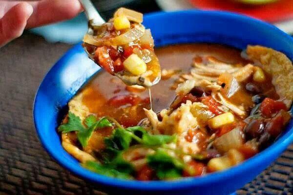 Slow cooker chicken tortilla soup | Food | Pinterest