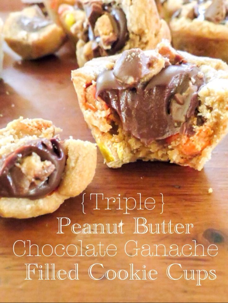 with peanut butter flavor and reese s pieces the chocolate ganache ...