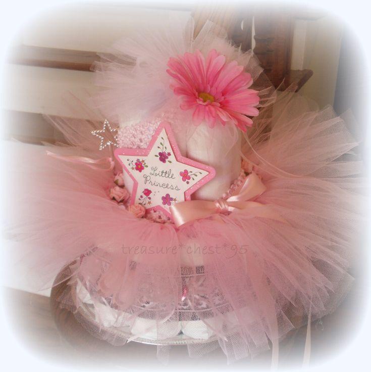 ballerina baby shower gift diaper cake centerpiece french paris tutu