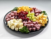 Cheese fruit and sausage tray yum pinterest