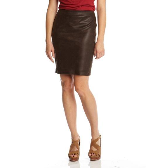 faux leather pencil skirt brown xs fashion