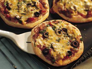 These individual pizzas are great for a snack or light lunch, and the recipe doubles easily.