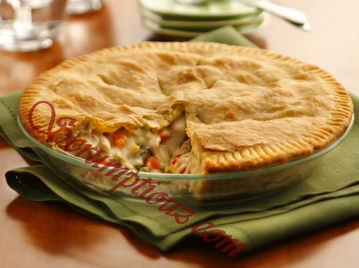 Double Crust Chicken Pot Pie | Recipes For The Family | Pinterest
