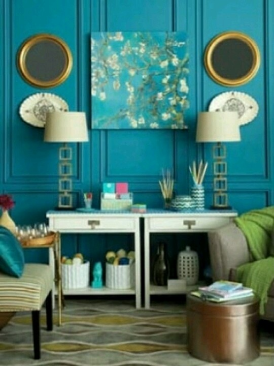 Peacock Living Room Decor Modern House