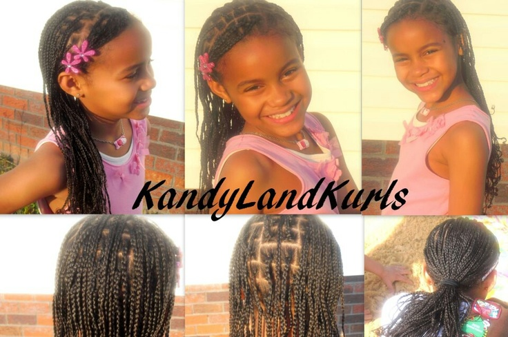 Box Braids With Bangs Mini box braids with side