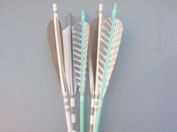 Arrows For Wall Decor : Tall arrow decor in sea gray white wall arrows