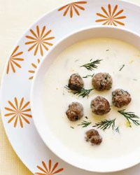 Tangy Lemon-Egg Soup with Tiny Meatballs Recipe from Food & Wine