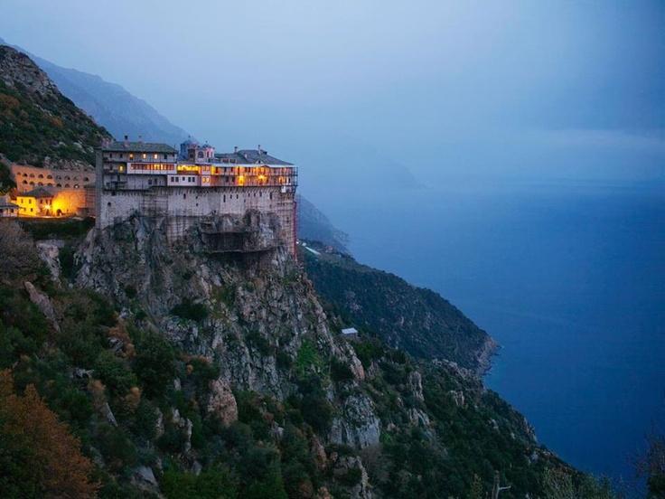 Monestery Mt. Athos, Greece.