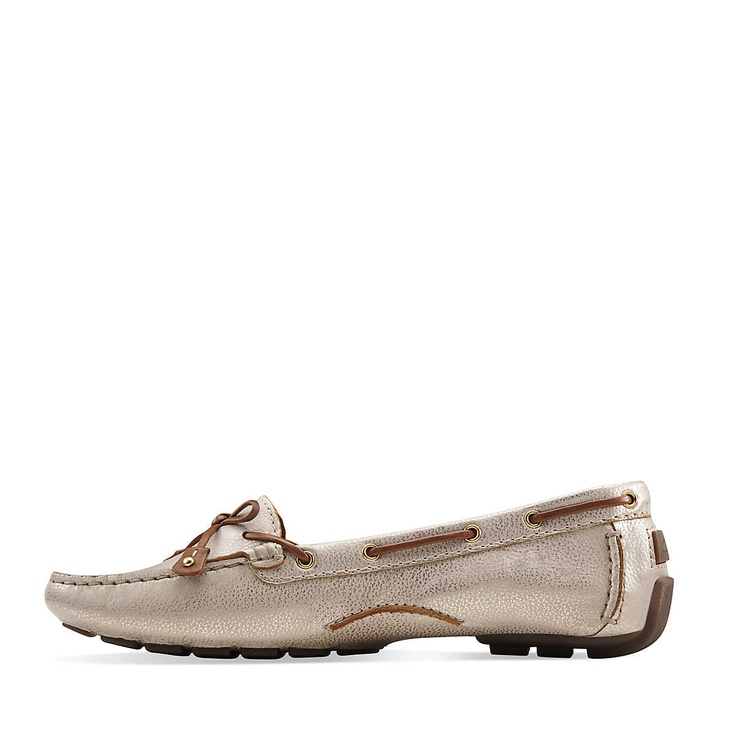 Dunbar Racer in Gold Leather - Womens Driving Shoes Loafers Moccasins