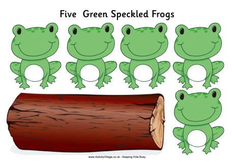 images for 5 frogs song passover