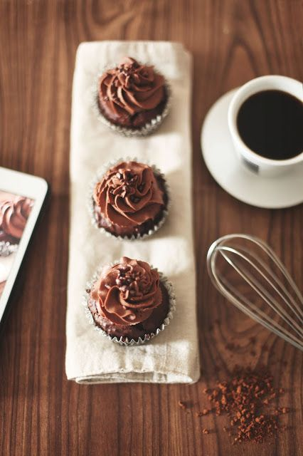 Espresso Chocolate Cupcakes (recipe) | CAKE- Sweet Treats | Pinterest