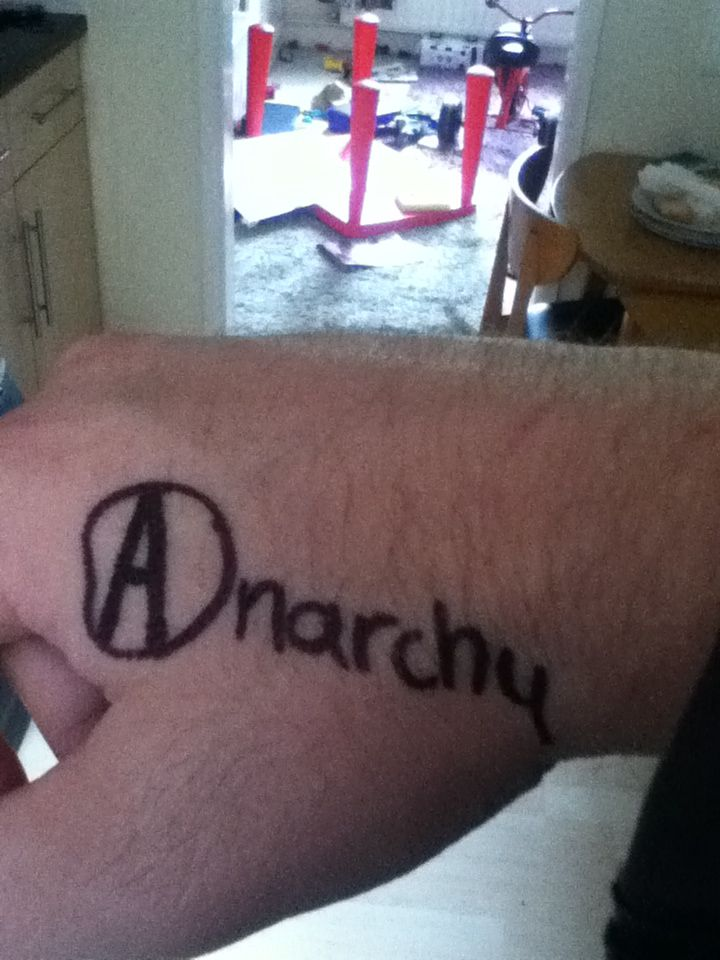 Anarchy Symbol Tattoo Mgk Tattoo Ideas Anarchy Symbol