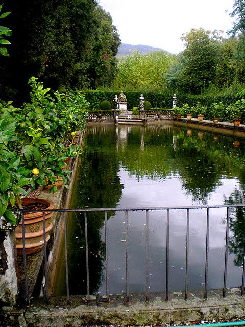 Fish Pond at Villa Torrigiani, Lucca, Italy