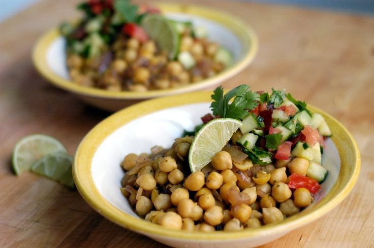 Chickpea Salad with Coriander and Cumin | Yummy Food Fun | Pinterest