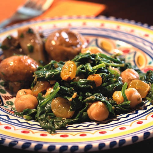 Spinach With Chickpeas | Food | Pinterest