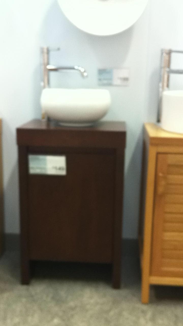 basin and walnut vanity unit homebase ideas for