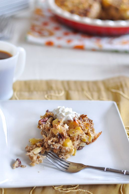 Apple Pie Baked Oatmeal | #Recipes to try | Pinterest