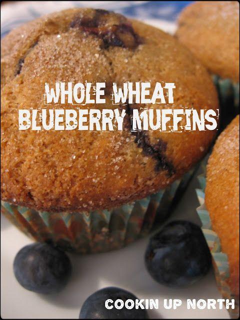 Whole Wheat Blueberry Muffins | Must make | Pinterest