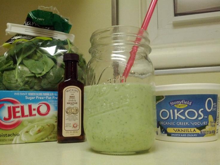 Protein Milkshake: http://www.dashingdish.com/2012/03/shamrock-protein ...