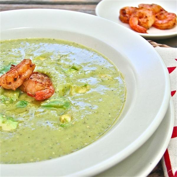 Avocado and Roasted Tomatillo Soup | Recipe