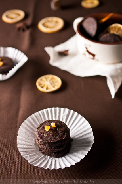 chocolate orange shortbread cookies.