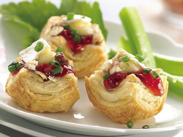 Brie and Cherry Pastry Cups