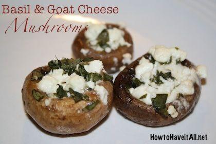 Basil & Goat Cheese Stuffed Mushrooms | Recipe