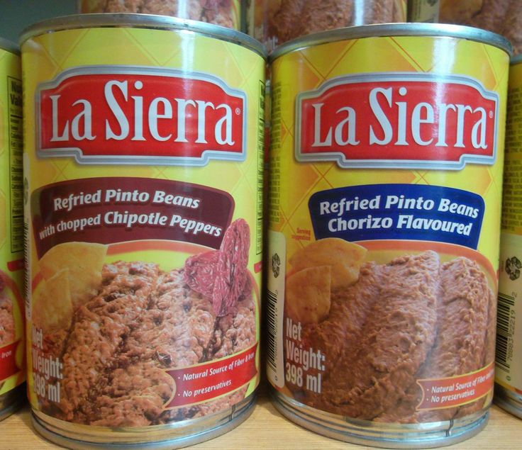 La Sierra Refried Pinto Beans - with chipotles or with vegetarian ...