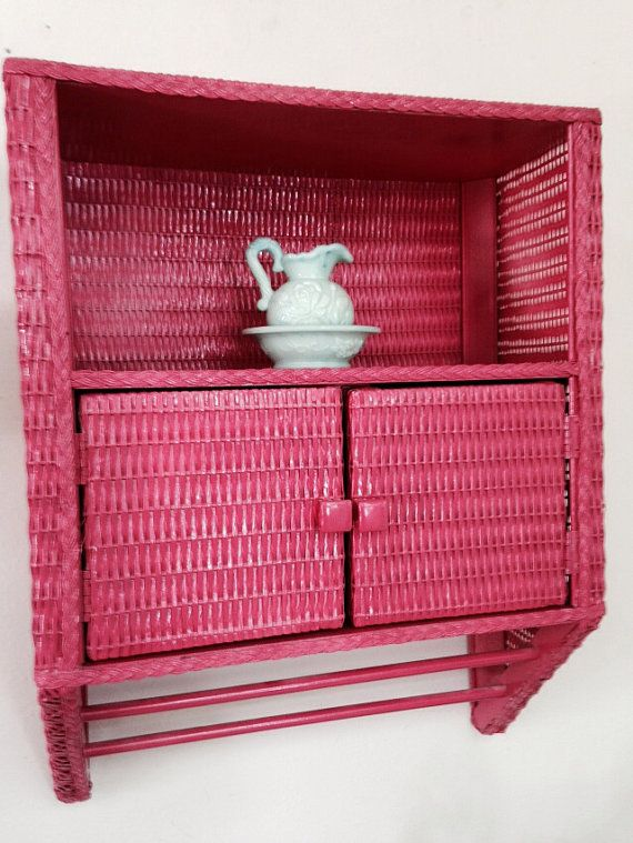 vintage watermelon wicker bathroom cabinet by thisweeksaddiction 50
