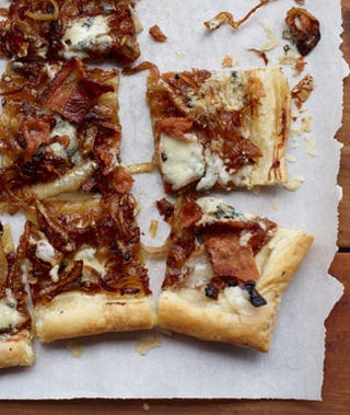 Caramelized Onion, Bacon & Blue Cheese Tart Recipe from Woman's Day ...