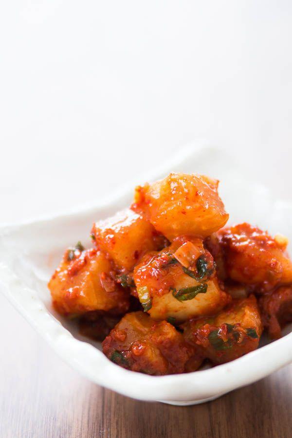 Spicy Radish Kimchi: Kkakdugi {norecipes}