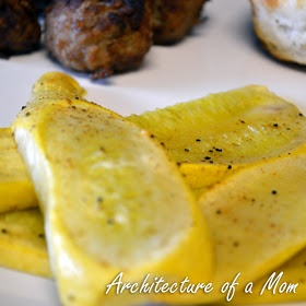 """Architecture of a Mom: """"Grilled"""" Summer Squash in the oven"""