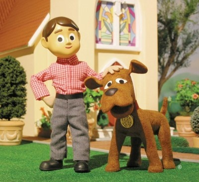 Davey and Goliath - a claymation cartoon developed by the Lutheran church.