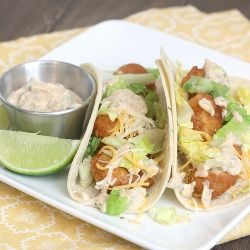 Beer Battered Fish Tacos with Baja Sauce | yum-yum | Pinterest