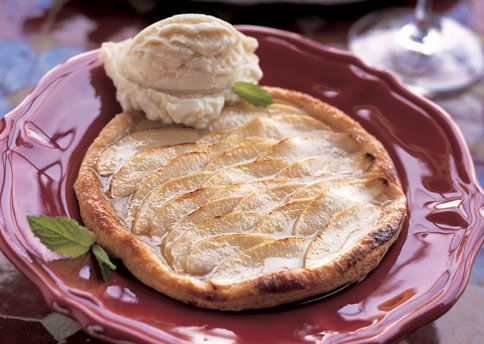 Puff Pastry Apple Tarts Glazed With Honey Recipe — Dishmaps