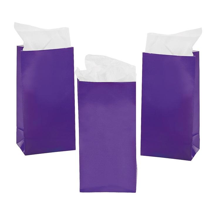 25 for 2 Dozen Mini Treat Bags - Purple - OrientalTrading