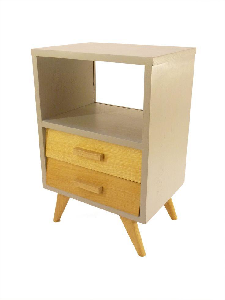 Table de chevet design scandinave grise  Kid's Room  Pinterest