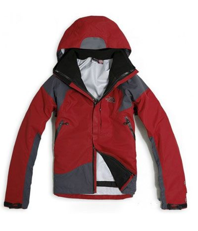 The North Face Gore Tex 3 in 1 Jacket Men Red