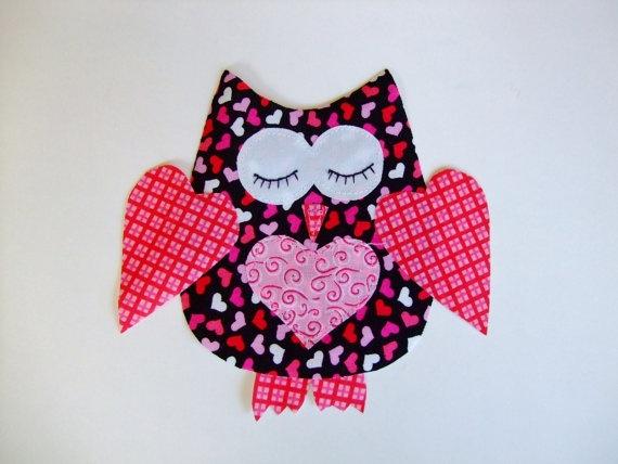 Valentine Owl Applique