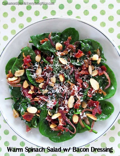 Spinach Salad with Warm Bacon Dressing | Recipe