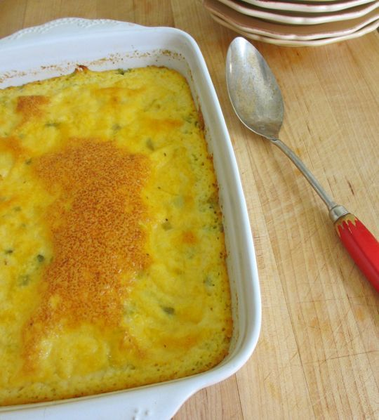 Cheesy Grits with Green Chiles | Recipe