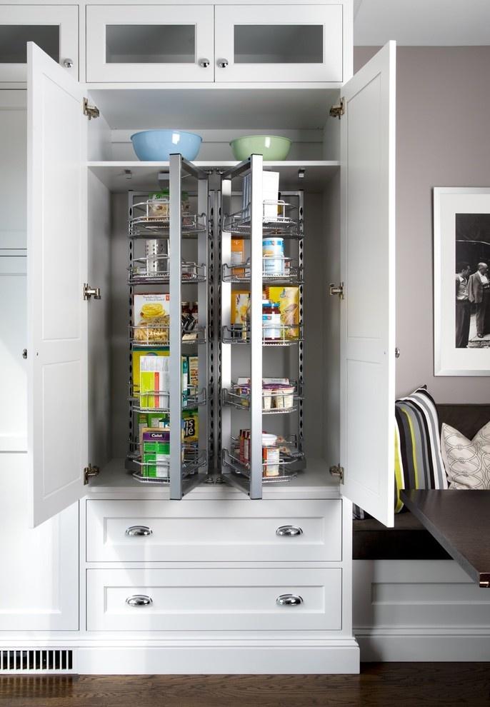 Modern pantry storage in a traditional kitchen jane lockhart interior