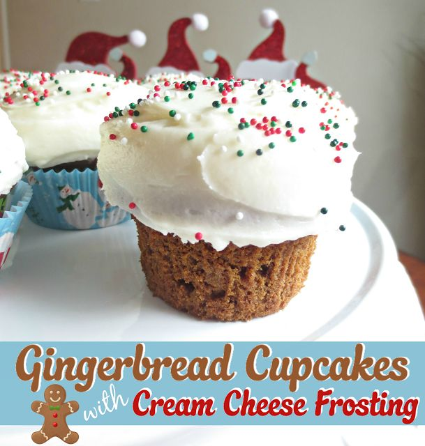 ... in the Kitchen: Gingerbread Cupcakes with Cream Cheese Frosting