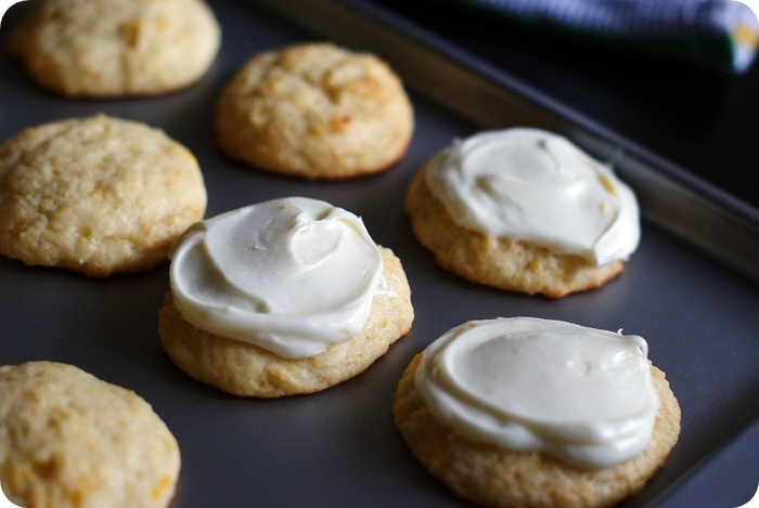 Meyer-lemon brown butter cookies with lemon cream cheese frosting