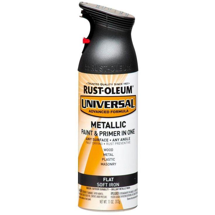 Rust Oleum Universal Paint 11 Oz All Surface Flat Metallic Soft Iro