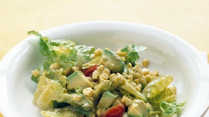 Romaine, Avocado, and Corn Salad | Salads & Dressings | Pinterest